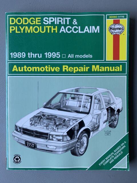 Haynes 30060  1779  Repair Manual For Dodge Spirit And
