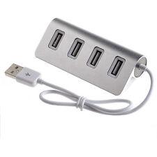 4 puertos USB 2.0 Multi Hub Separador Expansión portátil PC Adaptador hasta