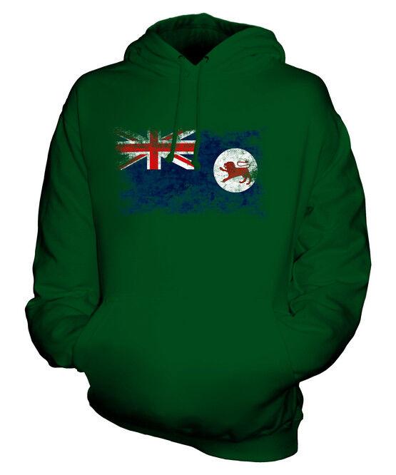 TASMANIA DISTRESSED FLAG UNISEX HOODIE TOP TASMANIAN  JERSEY GIFT