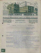 DRESDEN-A 28, Brief 1931, Buchdruck-Walzenmasse-Fabrik Paul Scholz