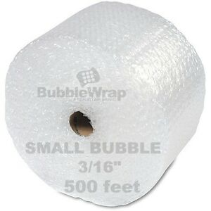 "Bubble Wrap 500 ft x 12"" Small Sealed Air 3/16 Best"