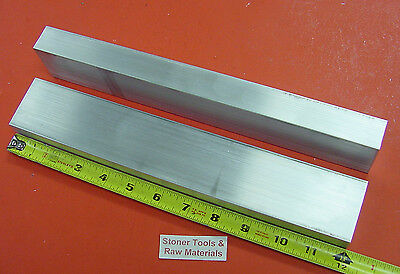 "2 pieces 1"" X 2"" ALUMINUM 6061 T6511 SOLID FLAT BAR 12"" long 1.00 New Mill Stock"