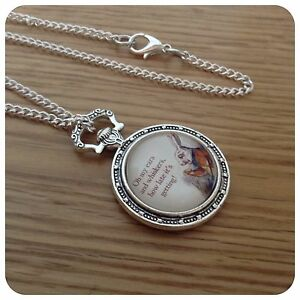 Alice-in-Wonderland-The-White-Rabbit-I-039-m-Late-Necklace-B1