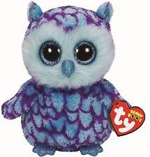 Oscar Owl - Ty Beanie Boos 6 inch - TY Boo Plush Teddy - Brand New Soft Toys