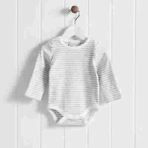 The Little White Company Cloud Striped Bodysuit 12-18 mth NEW