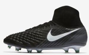 a8565c5bd0e5 Nike MAGISTA OBRA II FG WOMEN S FOOTBALL BOOT Black Grey 844595 002 ...