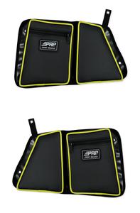 PRP Seats Black//Lime Yellow Rear Stock Door Bag Knee Pad Polaris RZR XP 4 1000