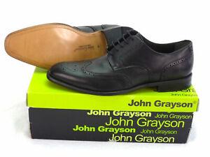 Chaussures JOHN GRAYSON Cuir Noir P.43 NEUVES