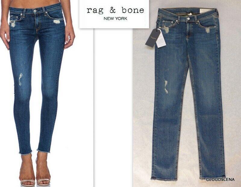 NWT RAG & BONE (Made in USA) La Paz Distressed Skinny Jeans Sz -24 25 26 31