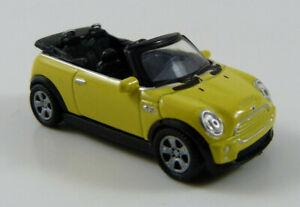 BMW-Mini-Cooper-S-Cabrio-gelb-Welly-73105-1-87-H0-ohne-OVP-MB17-G2