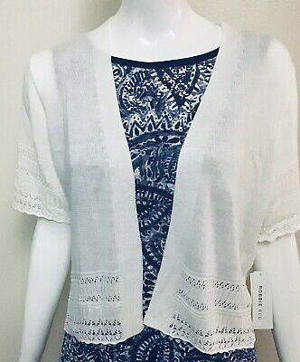 Details about  /Signature by Robbie Bee Women/'s Crochet Short Top