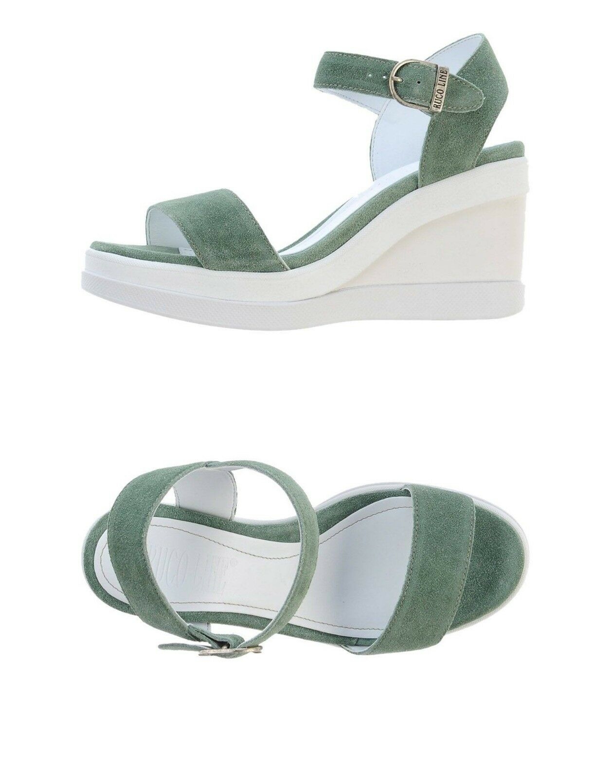 RUCO LINE Marge Summer Suede Wedges Eur 39 US 9 New in box