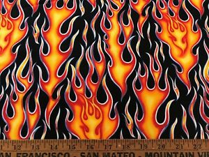 Cotton-Quilt-Fabric-034-Wheels-on-Fire-034-Alexander-Henry-Collection-2000-BTHY