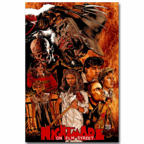 New Hot A Nightmare on Elm Street USA Horror Movie 20x30 24x36 Poster T-337