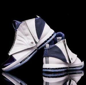 Nike-Air-Jordan-XVI-16-White-Midnight-Navy-136059-141-size-12-5-OG-1-4-7-6-12-23
