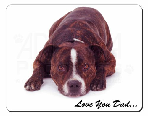 Staff Bull 'Love You Dad' Computer Mouse Mat Christmas Gift Idea, DAD184M