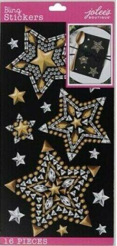 Claro oro estrellas Bling Gemas noche baile Diva Jolee/'S Pegatinas Manualidades Scrapbook