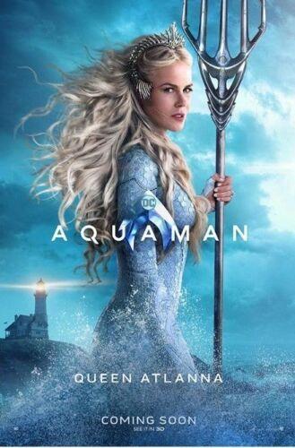 AQUAMAN 2018 movie 27x40 DS LIGHT BOX POSTER Nicole Kidman Queen Atlanna banner