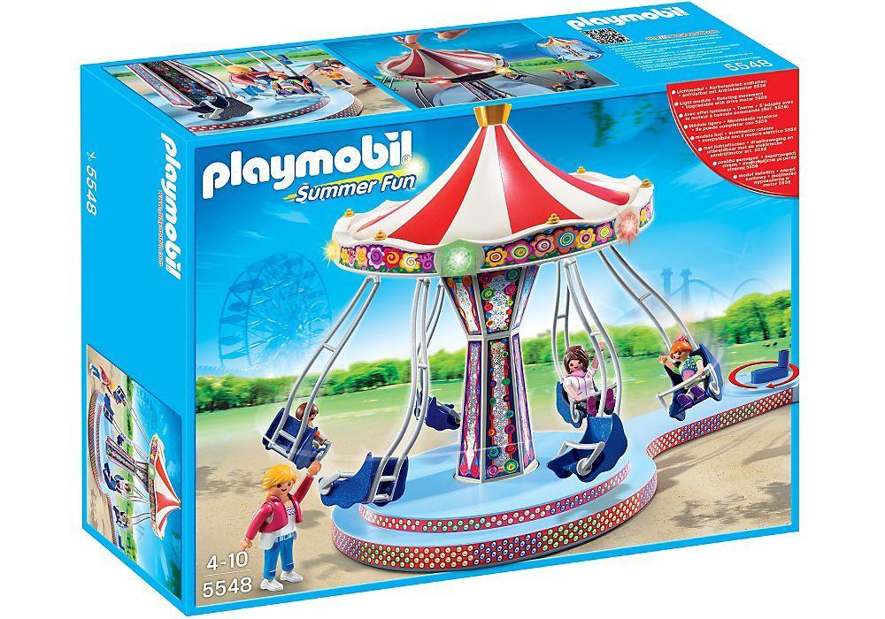 PLAYMOBIL City Life - 5548 Carosello a catena con illuminazione colorata-NUOVO & OVP