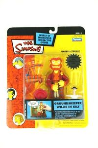 The-Simpsons-World-Of-Springfield-Groundskeeper-Willie-In-Kilt-Figure-NOS-WOS