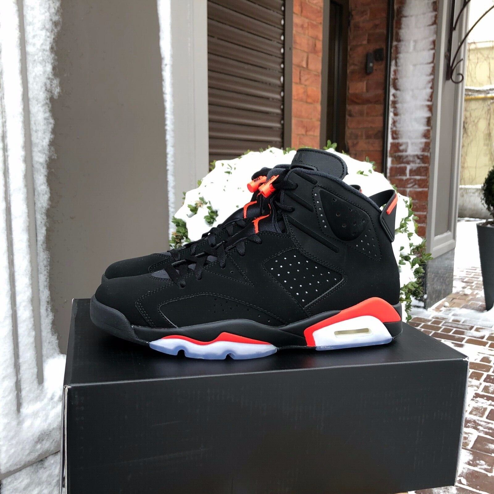 2019 Nike Nike Nike Air Jordan Retro 6 VI OG BLACK INFRARED Mens GS 384664-060 384665-060 caa005