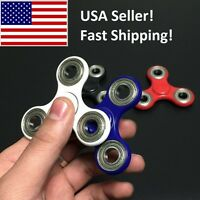 Fidget Tri-spinner Toy Ceramic Center W/ Steel Outer Bearings 20% To Charity Tri