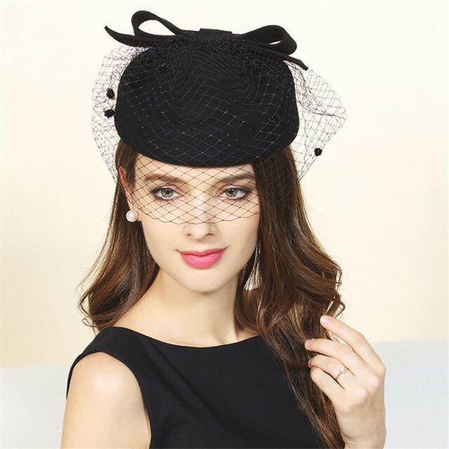b28d1a0a63550 Frequently bought together. Black Women Wool Felt Dress Winter Beret Pillbox  Hat ...