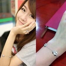 HOT Jewelry Cute Sliver Panda Bangle Bracelet Rhinestone (three bear)