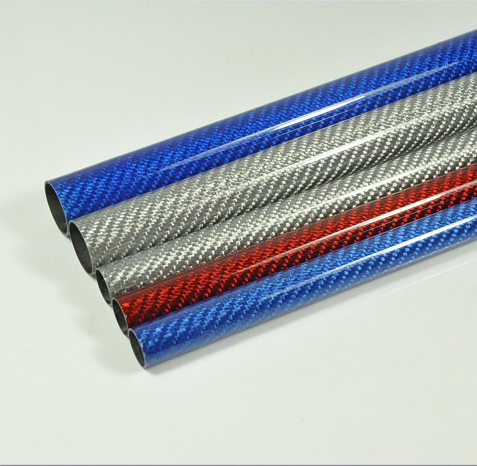 2pcs 12mm*14mm*1000mm arrotondato TUBI in Fibra di Carbonio per RC Aereo Multi Colori