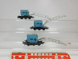 AQ832-1-3x-Maerklin-H0-AC-4611-Bastler-Kranwagen-Krupp-Ardelt-6804-DB