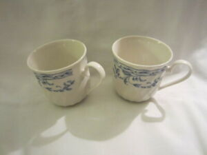 New-in-the-Box-Simplicity-2-Blue-amp-White-Mugs-by-Heritage-Mint-Ltd