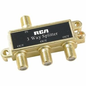 RCA Passive 75 Ohm RF Coaxial Cable Splitter 1 Input 3 Output Ships from USA