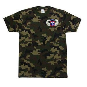 PROCLUB-PRO-CLUB-CAMO-Camouflage-T-SHIRT-T-SHIRT-82nd-Airborne-Wing-Logo