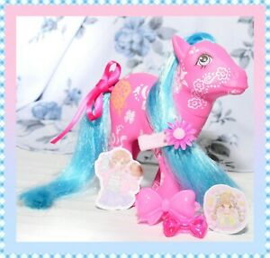 ❤️My Little Pony MLP G1 Vtg Sweet Blossom Flower Fantasy Petal Ribbon Pink❤️