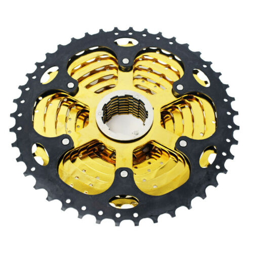 VG Sports MTB Bike 10 Speed 11-42T Cassette Flywheel Gold fit Sram Shimano HG500