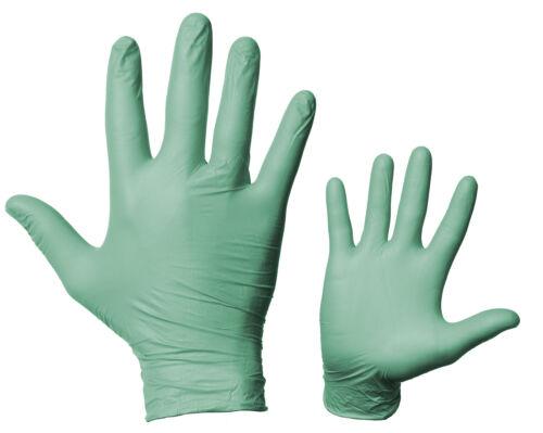 Gr L Nitril-EW-Handschuh puderfrei grün