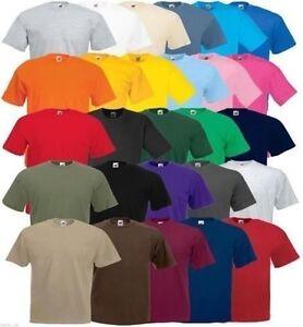 5-Pack-Men-039-s-Fruit-of-the-Loom-Plain-100-Cotton-Blank-Tee-Shirt-Tshirt-T-Shirt