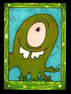 2019 Rick and Morty Season 2 Artist Sketch Card Cryptozoic by Andy Bohn