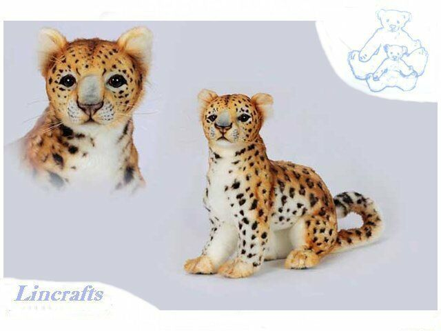 Hansa Sitting Amur Leopard 6779 Soft Toy Sold by Lincrafts Established 1993