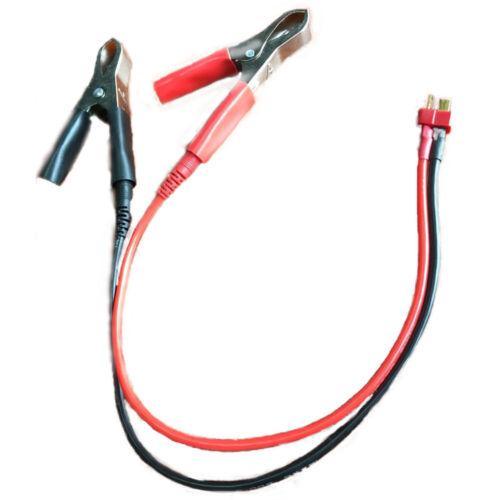 30 cm aligator clip to Deans T-Plug Connecteur Adaptateur Câble de charge pour radio control Batterie