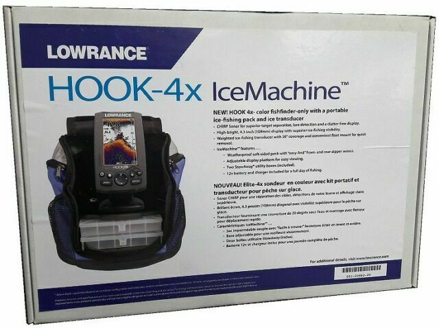 Lowrance HOOK4X Ice Fishfinder with Transducer