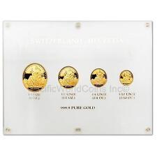 Switzerland 1986 Helvetia 4pc Gold Proof Set