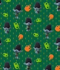 BaumwollJersey Digitaldruck Trolls grün Dreamworks Lizenz Meterware Kinderstoff