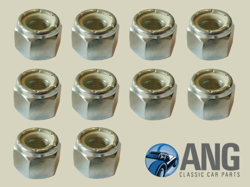 """1//2/"""" UNF NYLOC LOCKING BZP NUTS PACK OF 10 GHF225"""