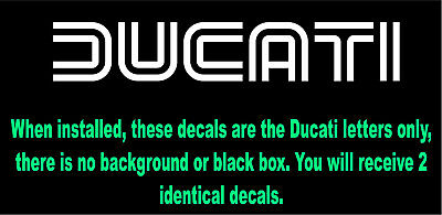 """1 8/"""" Ducati Outline Repro Vintage Decal Sticker Laminated #3409"""