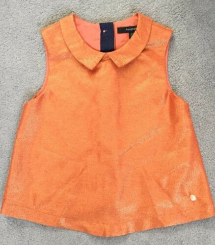 M/&S SPARKLY DRESS IN ORANGE WITH BOW AT BACK OF NECK FROM AUTOGRAPH 2-3y BNWT