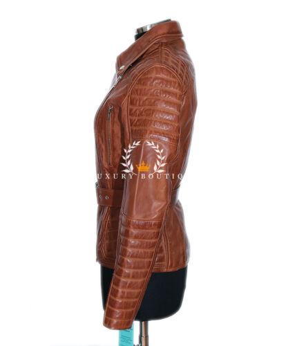 Tan Catwalk Lambskin Retro Ladies Jade Designer Waxed Leather New Real Jacket 6ndaR
