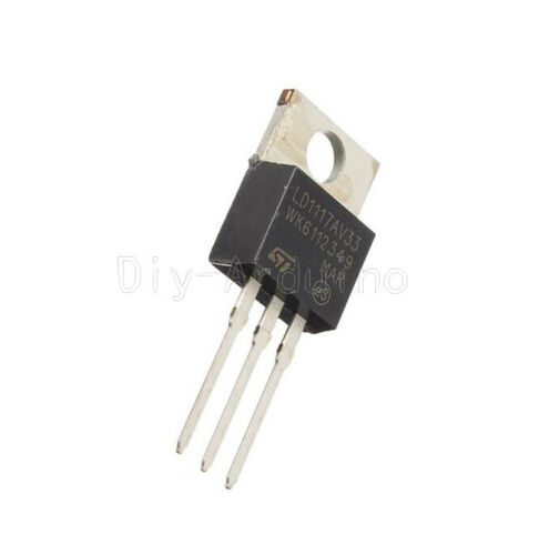 10PCS LD1117V33 Linear Voltage Regulator TO-220 3.3V 800mA