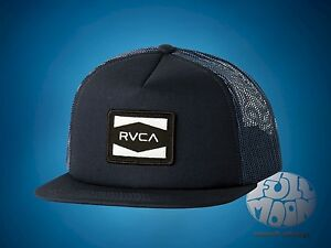 the latest f6146 6bafd Image is loading New-RVCA-Injector-Mens-Snapback-Trucker-Cap-Hat