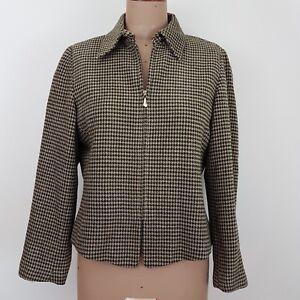 Emanuel-Ungaro-Women-039-s-Jacket-SZ-12-Houndstooth-Business-Weekend-Casual